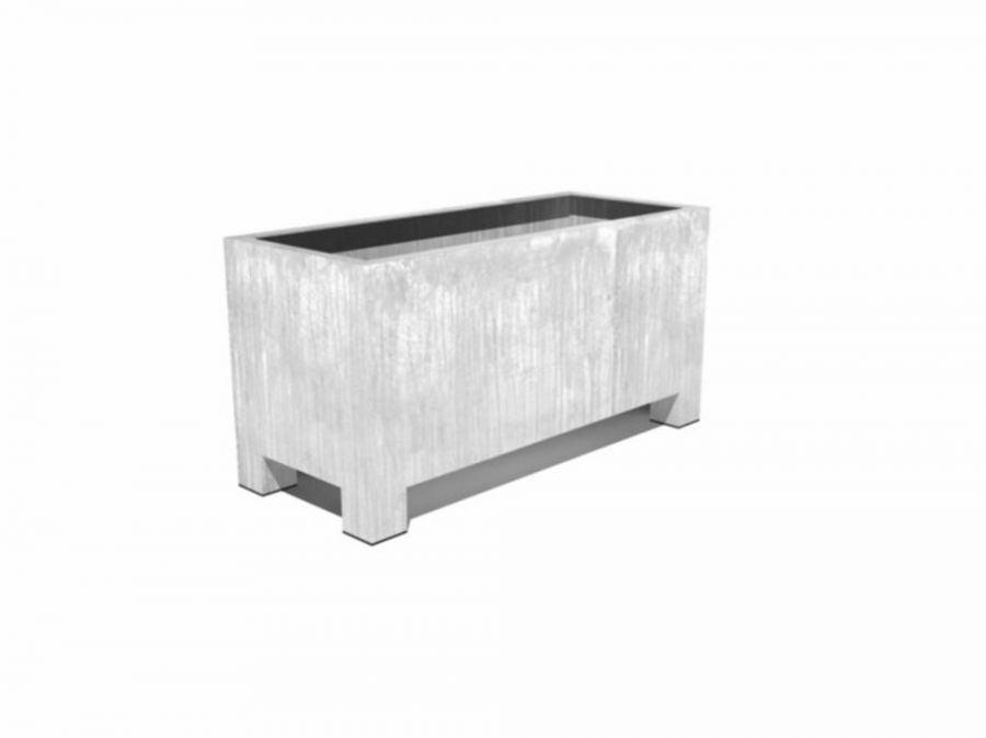 120cm Vadim Galvanised Steel Trough By Adezz