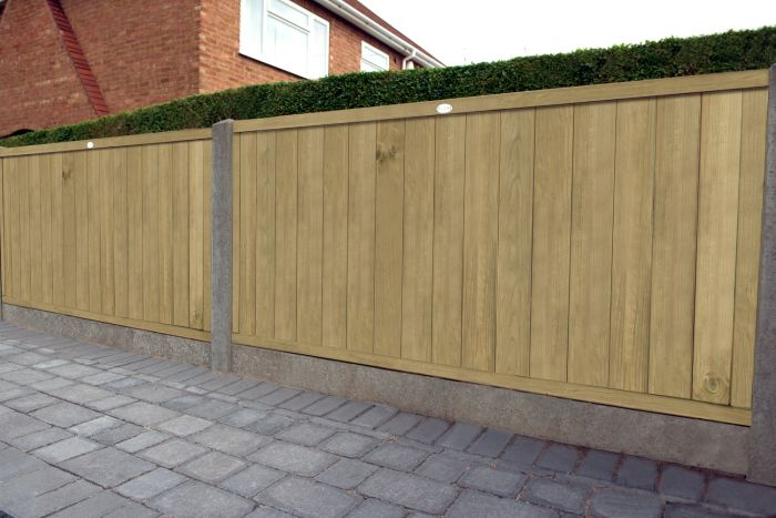 6ft x 4ft Fence Panel Pack of 3 - Pressure Treated Vertical Tongue and Groove