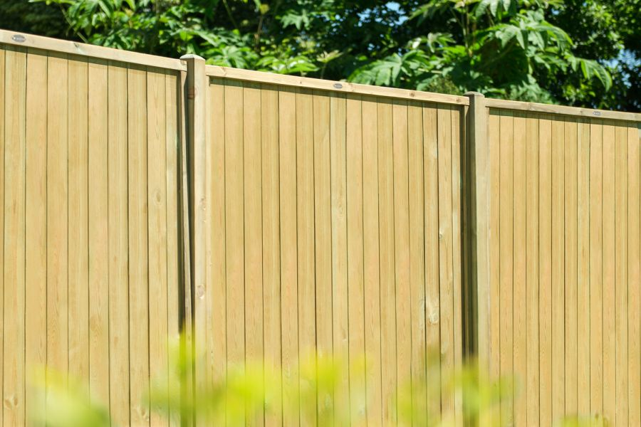 6ft x 6ft Fence Panel Pack of 3 - Pressure Treated Vertical Tongue and Groove