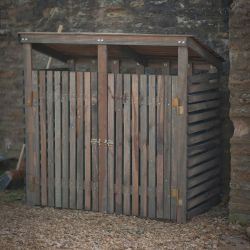 150cm Double Wooden Wheelie Bin Store