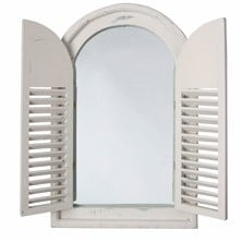 1ft 11in x 1ft Antique White Shuttered Glass Mirror