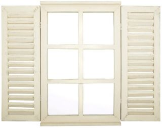 Outdoor Window Mirror With Shutters - 59cm