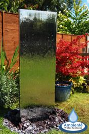 H180cm Double-Sided Vertical Water Wall with Plastic Reservoir - For Outdoor Use by Ambienté