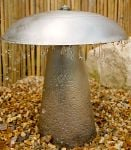 1ft 1ins Stainless Steel Toadstool Water Feature with LED Lights
