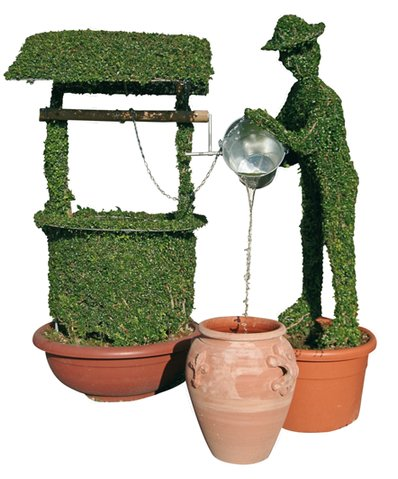 Topiary Water Feature - Wishing Well Jack