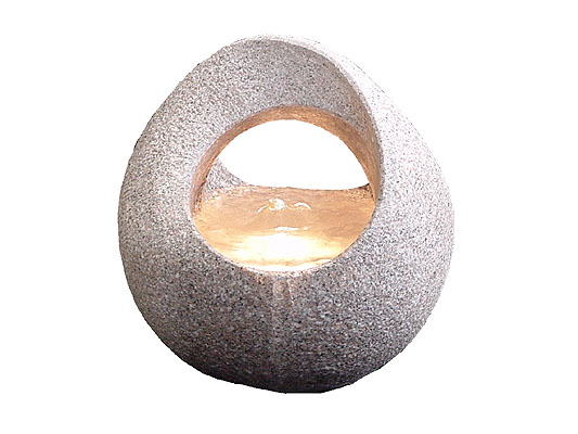 Cascading basket granite water feature
