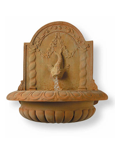 Large Dolphin Wall Fountain - 97cm