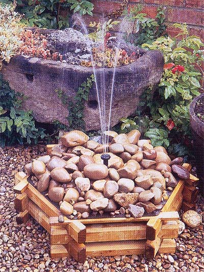 Pebble fountain