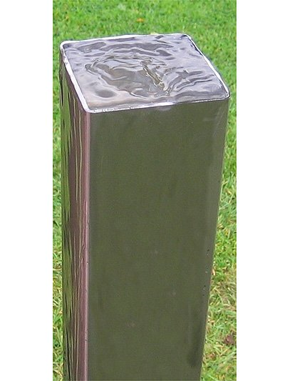 Stainless Steel Square 3 Tubes Water Feature 163 359 99