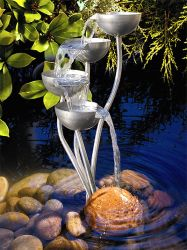Stainless Steel Cascades Water Feature Large - H110cm