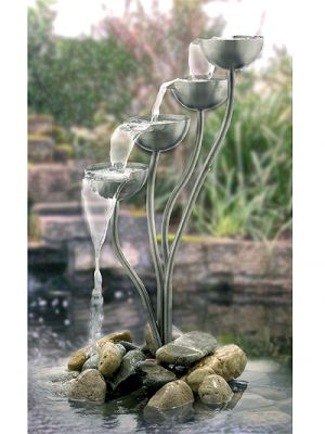 Stainless steel cascades water feature