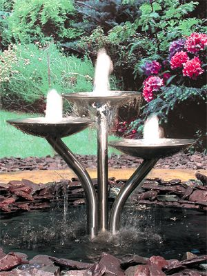 Triple Dish Cascade Water Feature