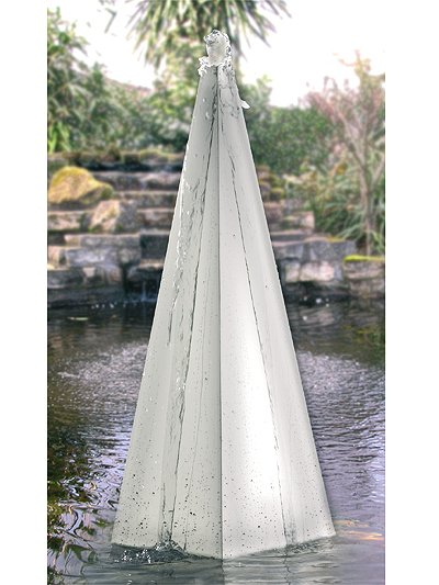 Stainless steel pyramids Water Feature