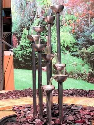 Standing stainless steel cascade Water Feature