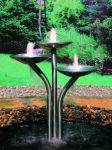 Stainless Steel Triple Dish Cascade Water Feature
