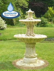 1.2m Classical 2 Tier Stone Fountain by Ambienté™ - Pond Version