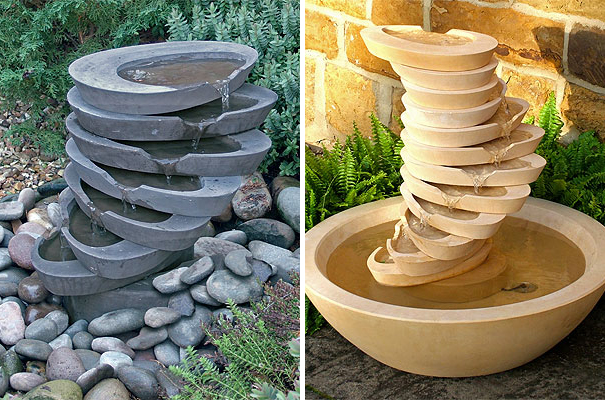 Contemporary Stone Waterfall