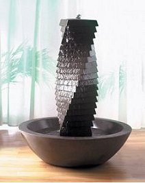 Spiral Ridged Monolith Water Feature