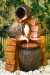 Colloseo Oil Jar Water Feature with Lights by Ambient� - H79cm
