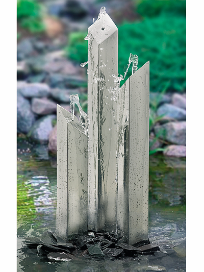 Stainless Steel Water Feature - Square Tubes