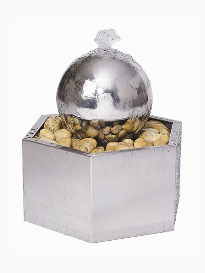 The Almo Sphere Stainless Steel Water Feature