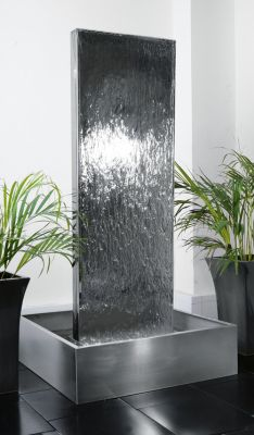 "180cm (5' 11"") Double-Sided Vertical Water Wall with Stainless Steel Reservoir"