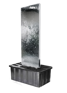 "4ft 3"" / 1.3m Double-Sided Vertical Water Wall with Plastic Reservoir"