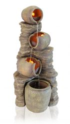 1.2m Noble 4-Tier Oil Jar Water Feature with Lights by Ambienté™