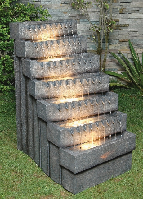 Shimmering Steps Stone Effect Cascade Water Feature 163 159 99