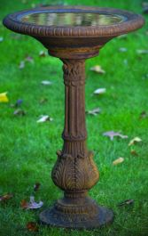 86cm Massarelli Victorian Fern Leaf Bird Bath