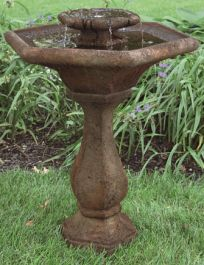Massarelli Two Tier Chelsea Hex Fountain with Lights