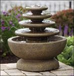 Massarelli Four Tier Gozo 2ft Fountain on Petal Pool
