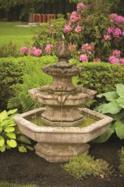 Massarelli Cast Stone Three Tier Spade 4ft Fountain