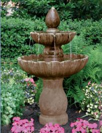 Massarelli Two Tier Mirabella Scallop Fountain