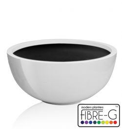 72cm Fibreglass High Gloss Low Bowl Planter - By Primrose™