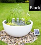 Solar Powered Pond in a Pot Kit with 72cm Black Planter and Fountain