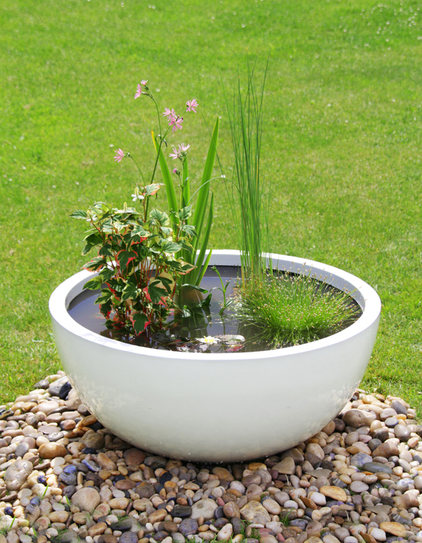 72cm Fibreglass High Gloss Low Bowl Planter - By Primrose®