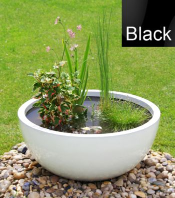 Semi Shade Black Pond-in-a-Pot Solar Water Feature 72cm