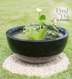 H34cm Black Pond-In-A-Pot Semi-Shade Solar Water Feature