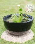 Sun Loving Pond in a Pot Kit with 72cm Black Fibreglass Planter