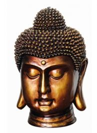 Bronze Resin Buddha Head Water Feature with LEDs W37cm x H53cm