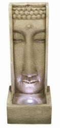 Slimline Sandstone Buddha Wall with Lights W31cm x H80cm