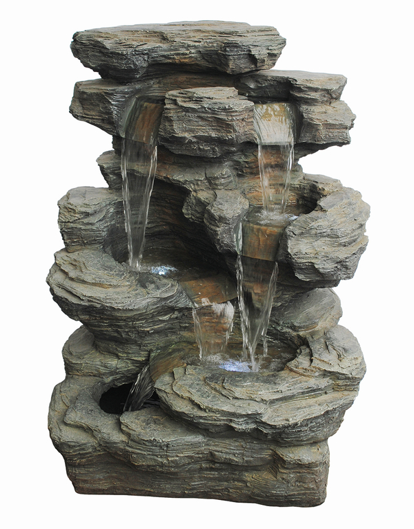Large Slate Multi Fall Water Feature W67cm x H92cm