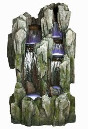 Large Slate Fall Water Feature with Lights W92cm x H151cm