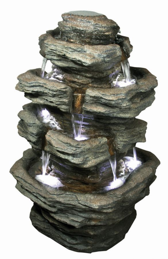 Multifall Slate (360 Degrees) Water Feature with Lights