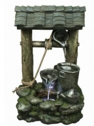 3 Bucket Wishing Well Water Feature W45cm x H75cm