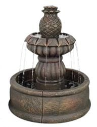 Classic Fountain with Pool Tiered Water Feature with lights D50cm x H61cm