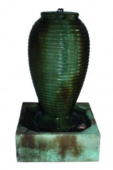 Small Ribbed Jar Fountain Water Feature W42cm x H72cm