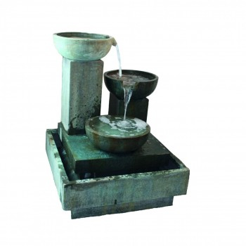 Trio Cascade Fountain Water Feature with Lights W100cm x H130cm