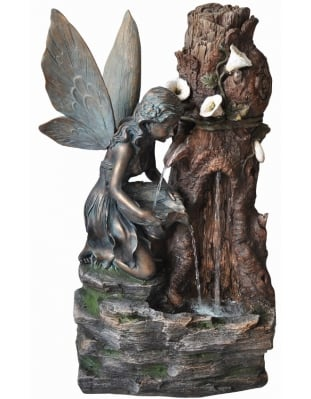 Spring Water Fairy Water Feature with Light W48cm x H74cm